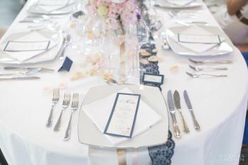 Table thème chic navy & blanc